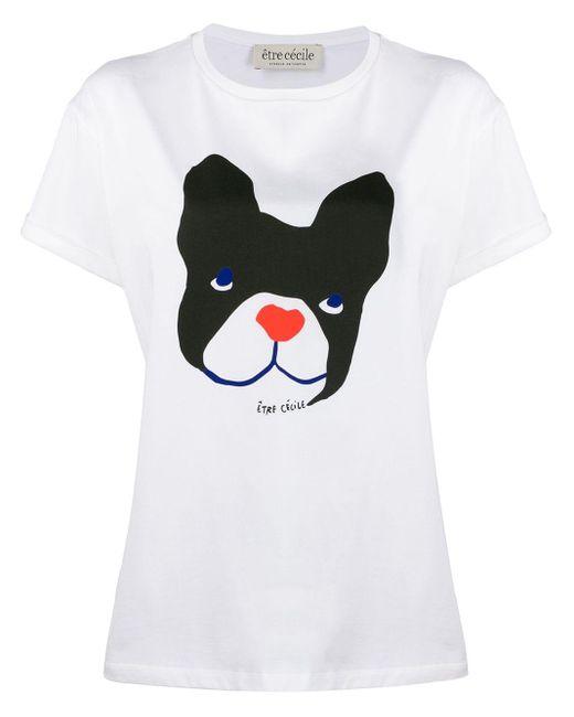 Être Cécile White Big Dog Oversized Shirt