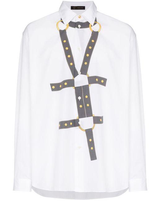 Versace T-shirt Met Print in het White voor heren