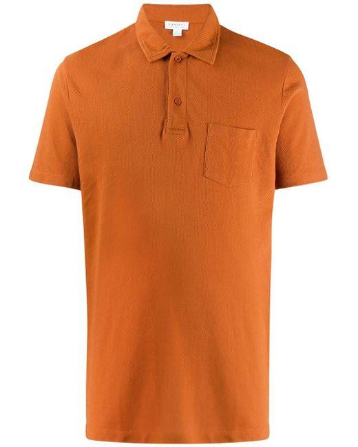 メンズ Sunspel Riviera ポロシャツ Orange