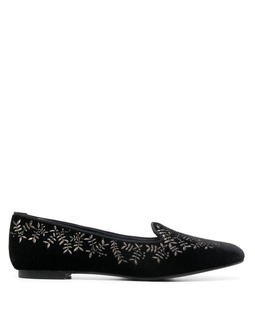 10 Corso Como Black X Castañer Hojas Velvet Slippers