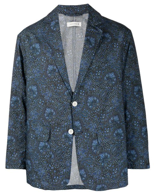 メンズ Mackintosh リバティプリント ジャケット Blue