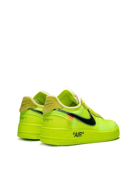 Zapatillas bajas The 10: Nike Air Force 1 NIKE X OFF-WHITE de color Yellow