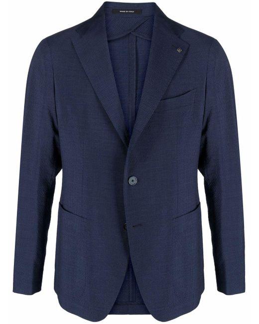メンズ Tagliatore テクニカル シングルジャケット Blue
