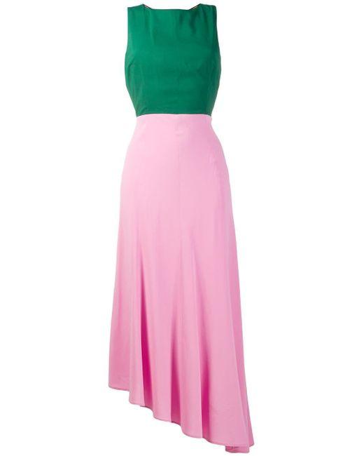 LaDoubleJ カラーブロック ドレス Pink