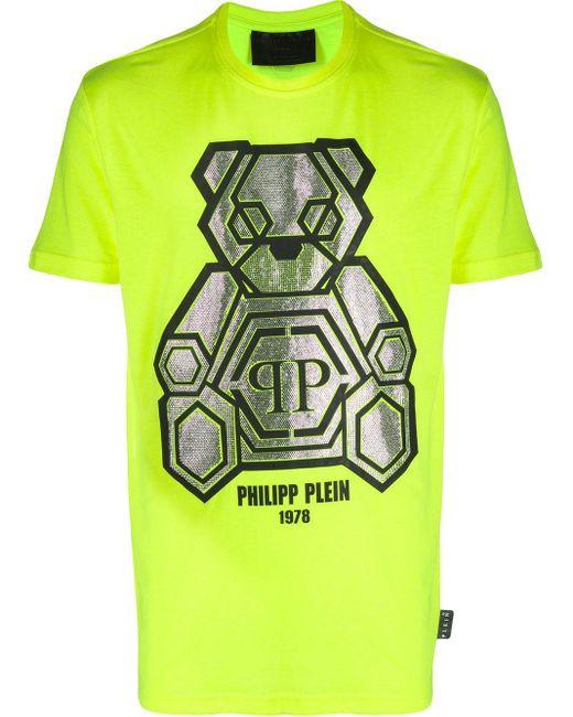 メンズ Philipp Plein テディベア Tシャツ Green