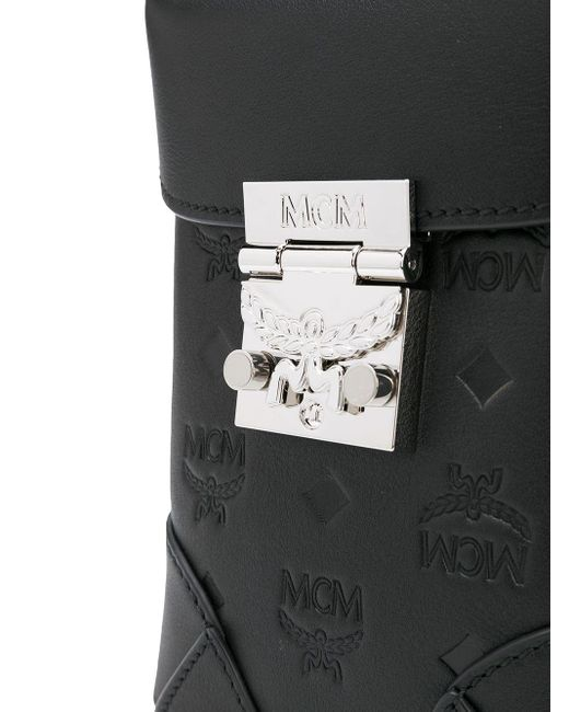 Сумка-ведро С Тисненой Монограммой MCM, цвет: Black