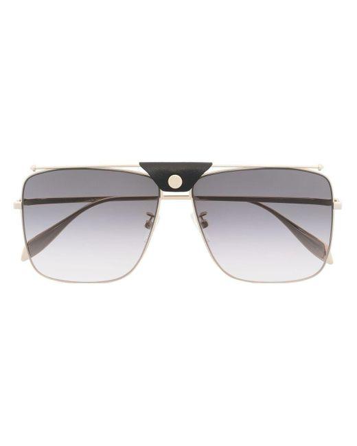 Occhiali da sole modello aviator di Alexander McQueen in Metallic