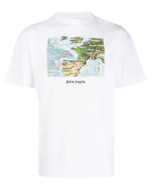 メンズ Palm Angels ロゴ Tシャツ White