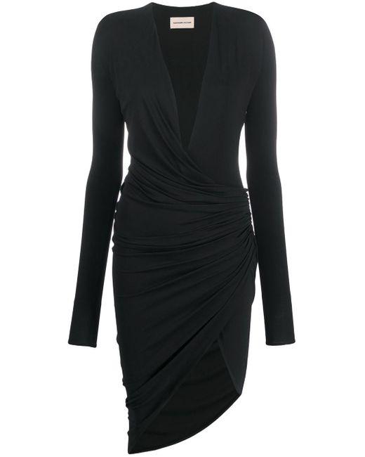 Alexandre Vauthier シャーリング ドレス Black