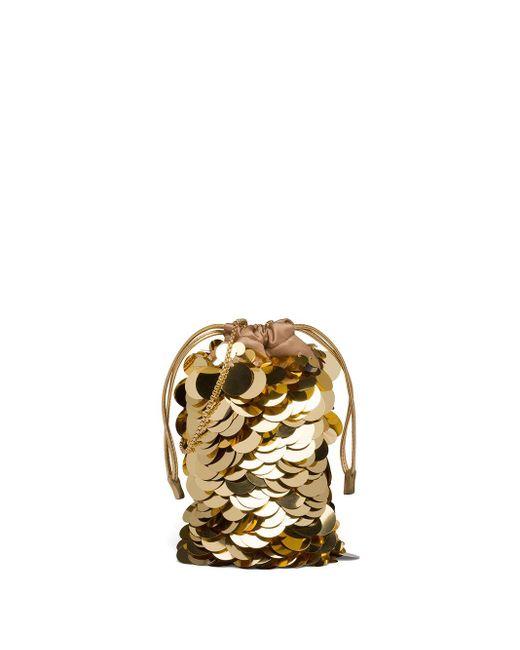 Prada スパンコール ミニバッグ Metallic