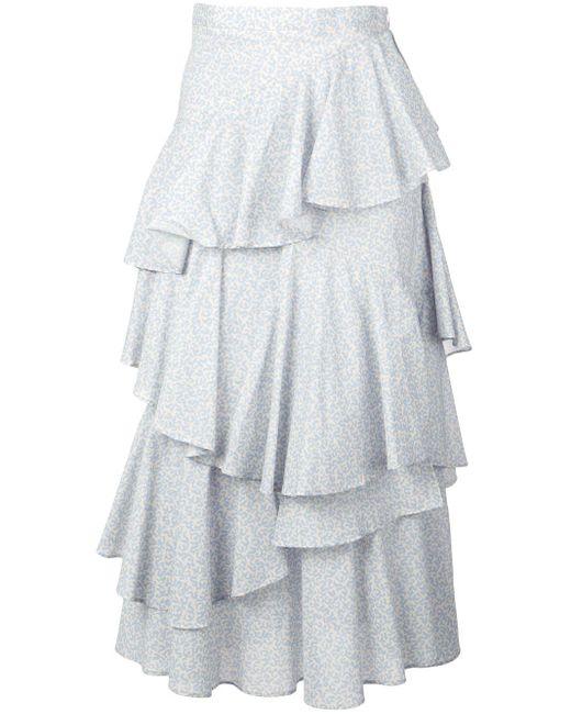 AlexaChung ラッフルスカート Multicolor
