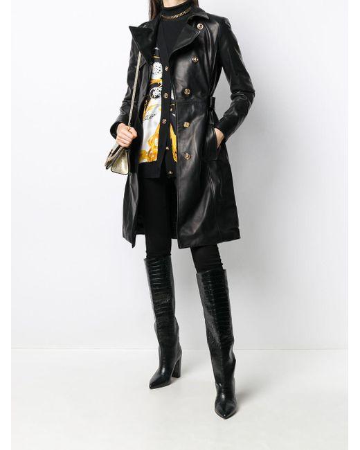 Versace メデューサ トレンチコート Black