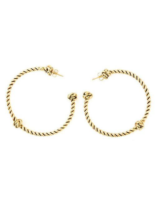 Aurelie Bidermann - Metallic 'palazzo' Hoop Earrings - Lyst