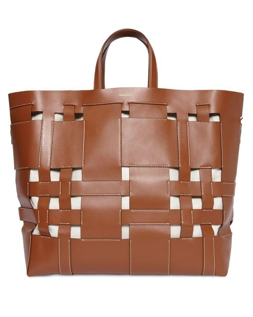 Burberry Foster ハンドバッグ L Brown