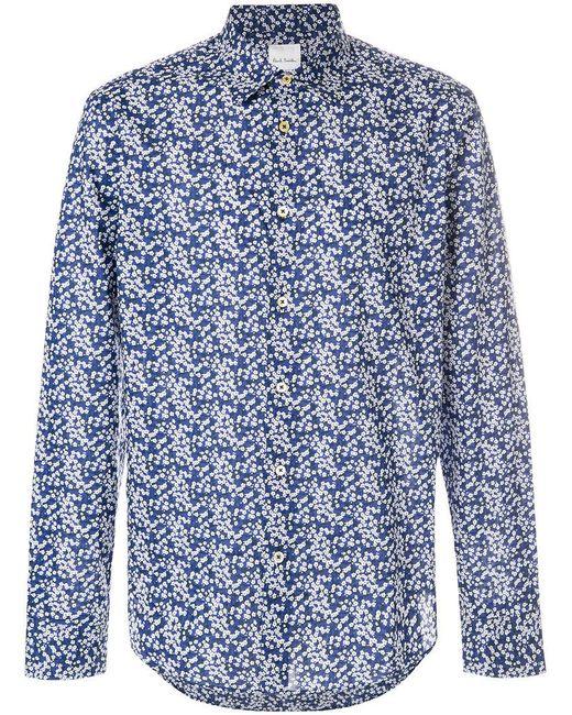 Paul Smith | Blue Cherry Blossom Shirt for Men | Lyst