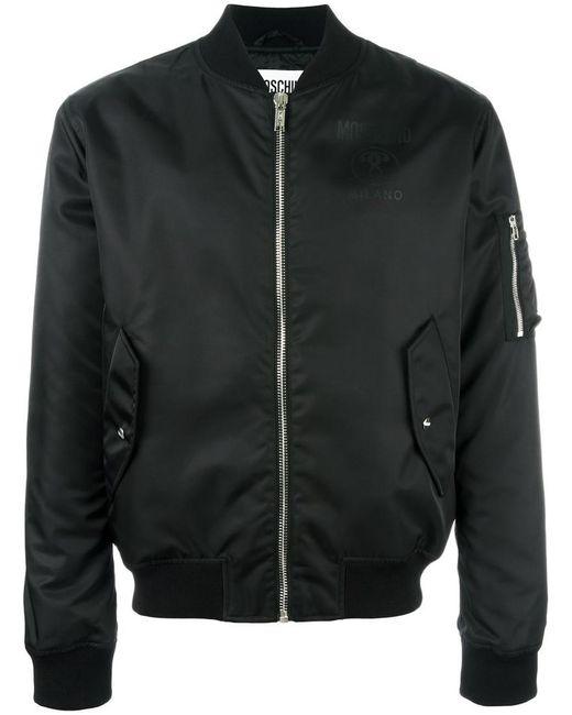 Moschino - Black Logo Bomber Jacket for Men - Lyst