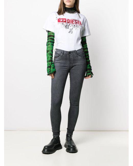Camiseta con logo T-Daria DIESEL de color White