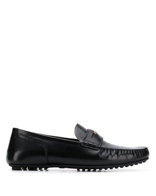 Versace Loafer mit Print in Black für Herren