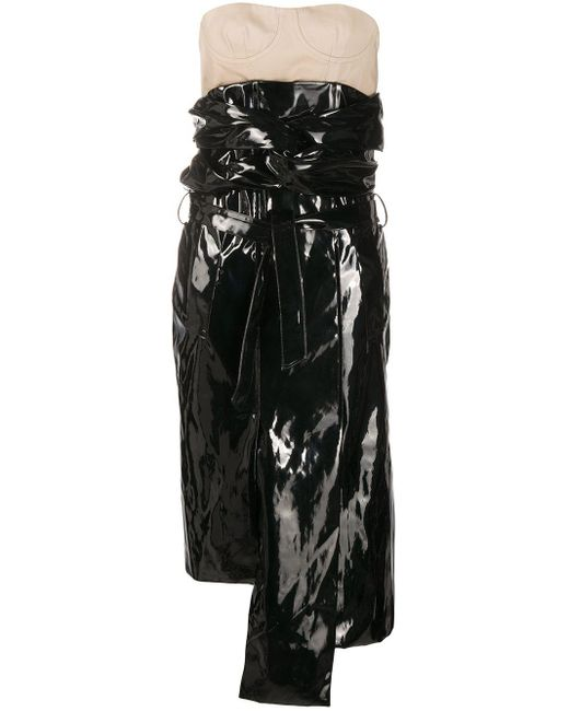 ROKH レイヤード ドレス Black