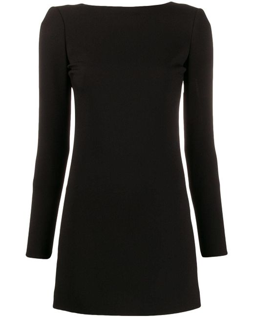 Saint Laurent オープンバック ドレス Black