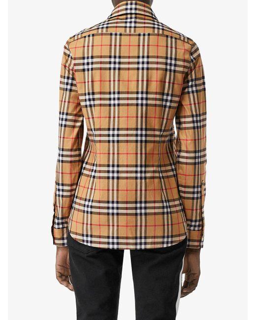 Рубашка В Клетку Vintage Check Burberry, цвет: Multicolor