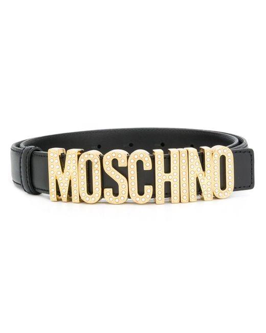 Ремень С Пряжкой-логотипом Moschino, цвет: Black