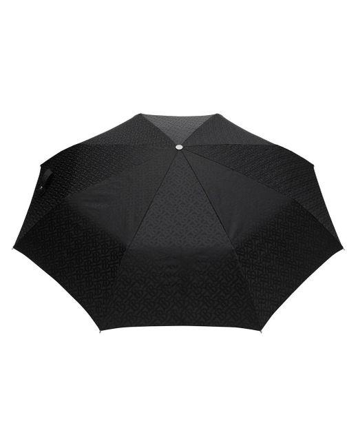 Burberry モノグラムプリント 折り畳み傘 Black