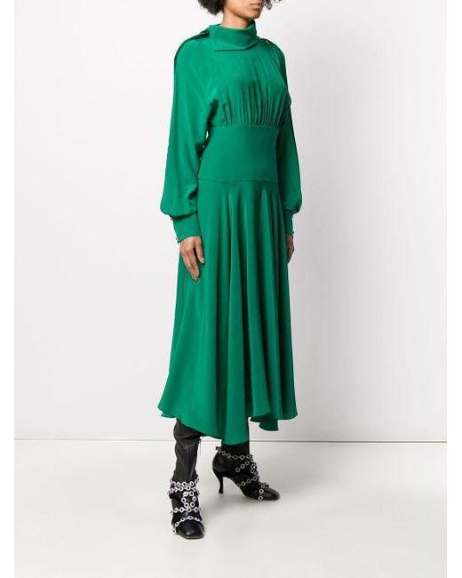 Christopher Kane ビジュー ドレープドレス Green