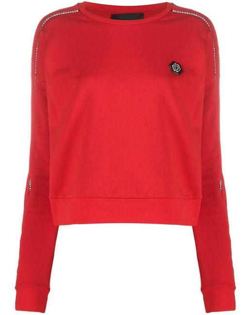 Philipp Plein デコラティブ スウェットシャツ Red