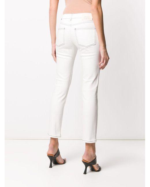 Укороченные Джинсы С Заниженной Талией Alexander McQueen, цвет: White