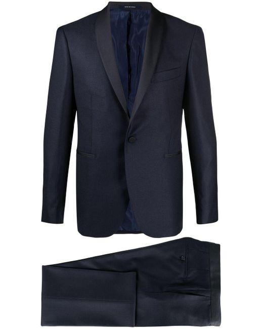 メンズ Tagliatore シングルブレスト ディナースーツ Blue