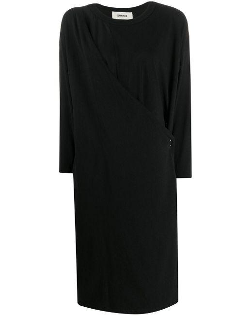 Zucca ドレープドレス Black