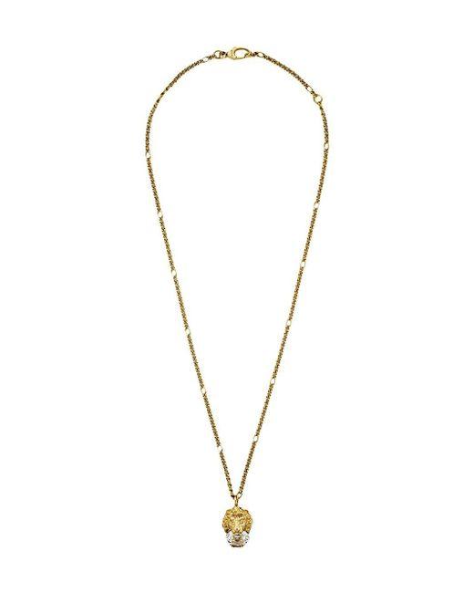 Gucci Halskette mit Löwenkopf in Metallic für Herren