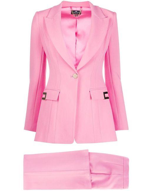 Строгий Костюм-двойка Elisabetta Franchi, цвет: Pink