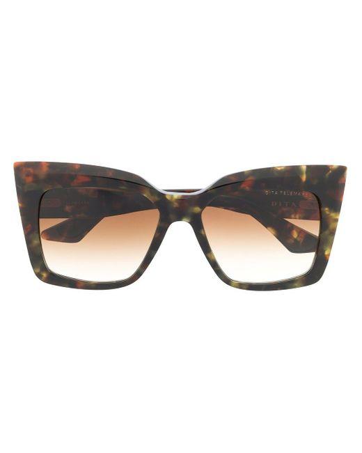 Солнцезащитные Очки В Массивной Квадратной Оправе Dita Eyewear, цвет: Brown