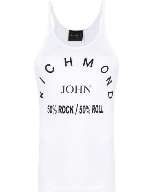 John Richmond ノースリーブ トップ White