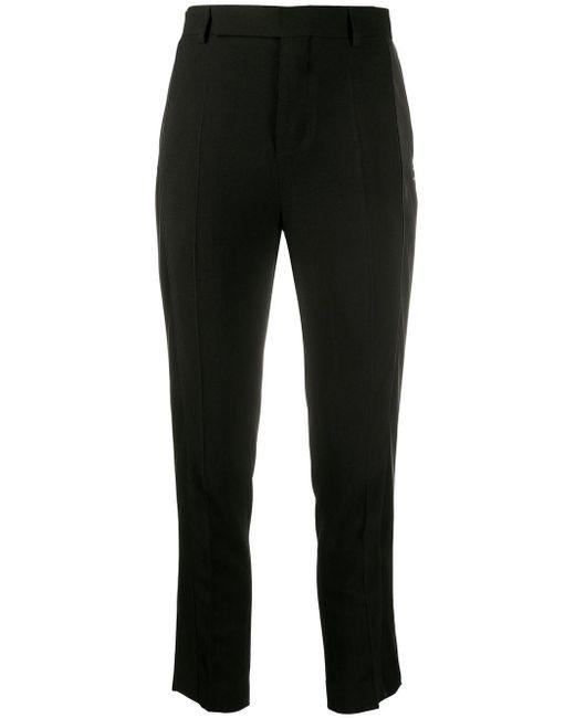 Pantalon slim à bandes latérales Rick Owens en coloris Black