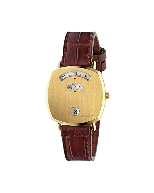 Gucci グリップ 腕時計 Brown
