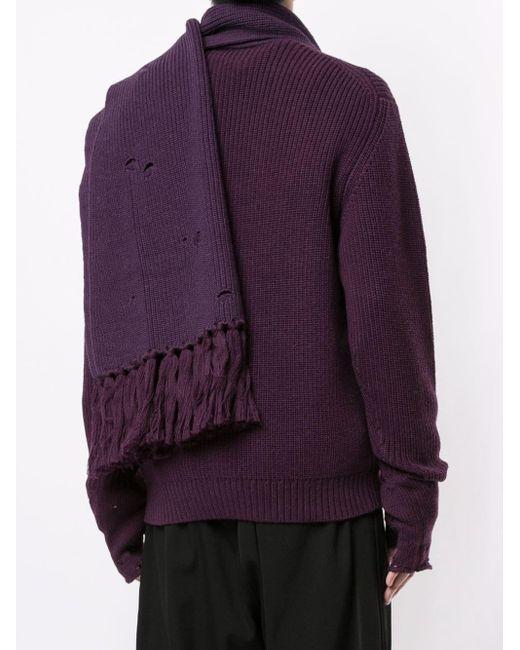 メンズ Bed J.w. Ford スカーフディテール セーター Purple
