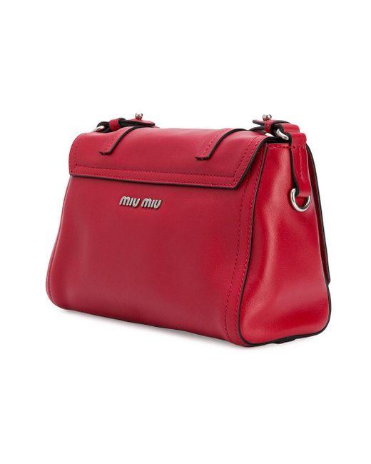 313af07a7b0f ... Miu Miu - Red Grace Lux Bag - Lyst ...