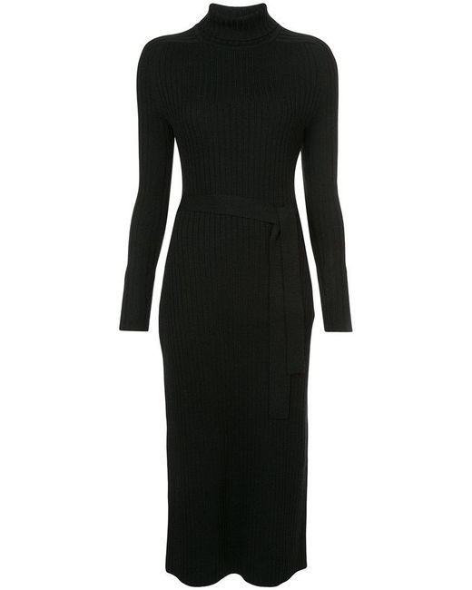 TOME | Black Ribbed Dress | Lyst