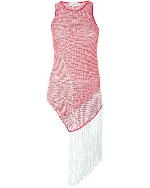 Stella McCartney ダメージ加工 メッシュセーター Pink
