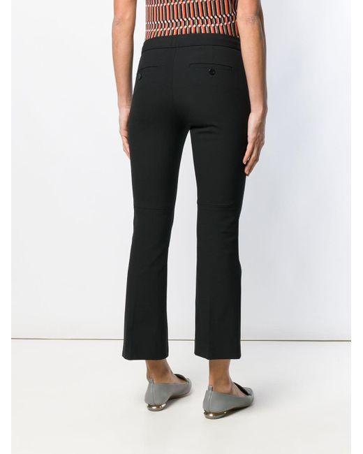 Pantaloni crop svasati di Theory in Black