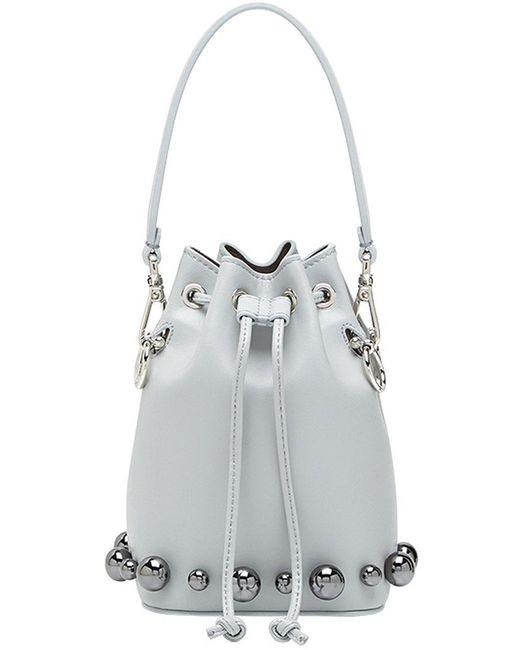 5399f6ede826 Fendi - Gray Mon Tresor Bucket Bag - Lyst ...