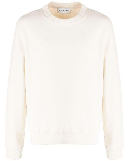メンズ Lanvin ロゴ スウェットシャツ White