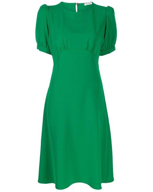 P.A.R.O.S.H. パフスリーブ ドレス Green