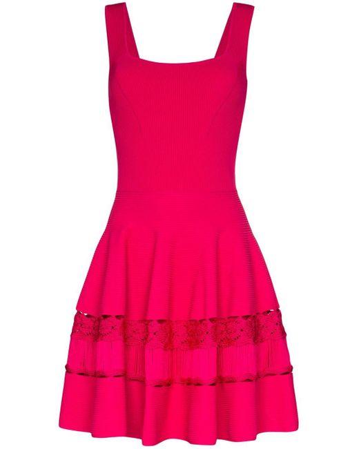 Alexander McQueen クロシェ ニットドレス Pink
