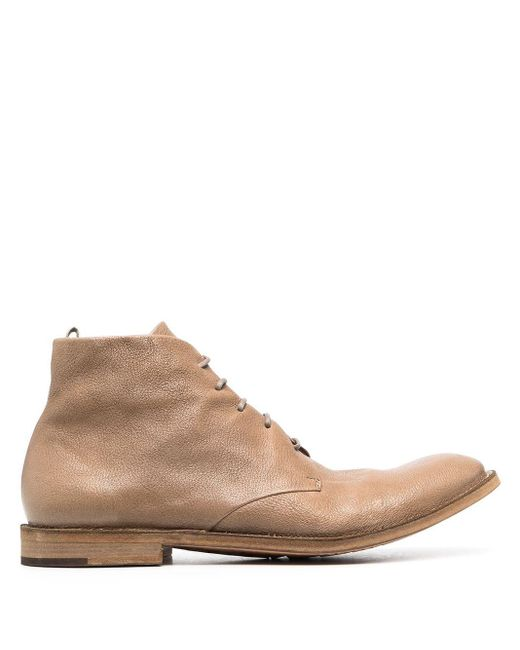 Officine Creative Brown Character 9 Ankle-boots for men