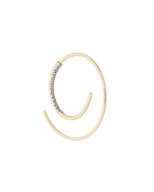 Maria Black - Metallic 14kt Yellow Gold Spiral Diamond Earring - Lyst