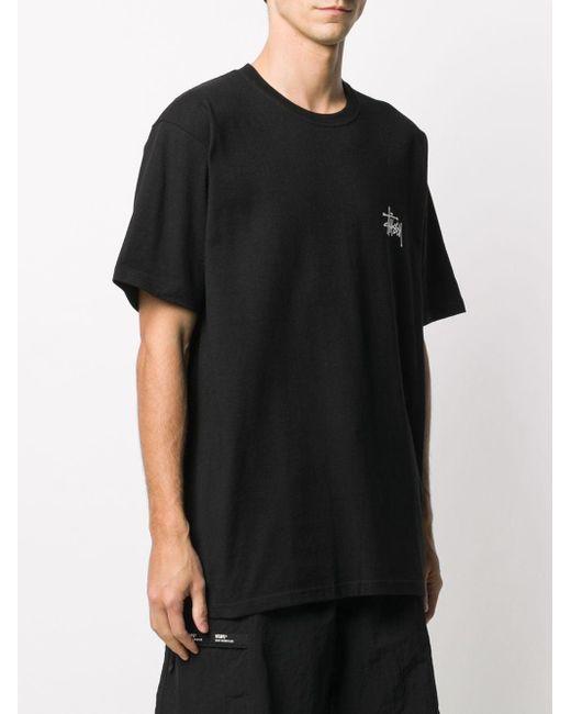 メンズ Stussy ロゴ Tシャツ Black